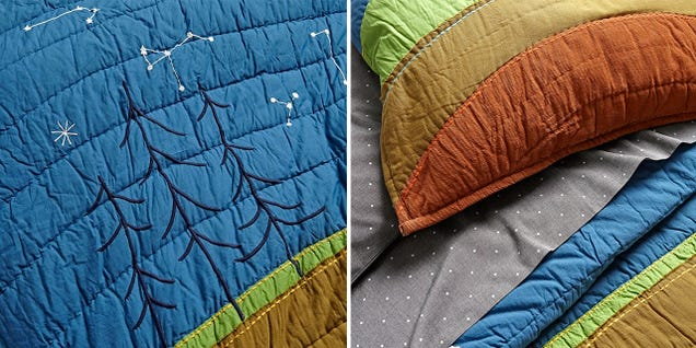 Your Kid Will Secretly Learn About Geology With this Colorful Bedding