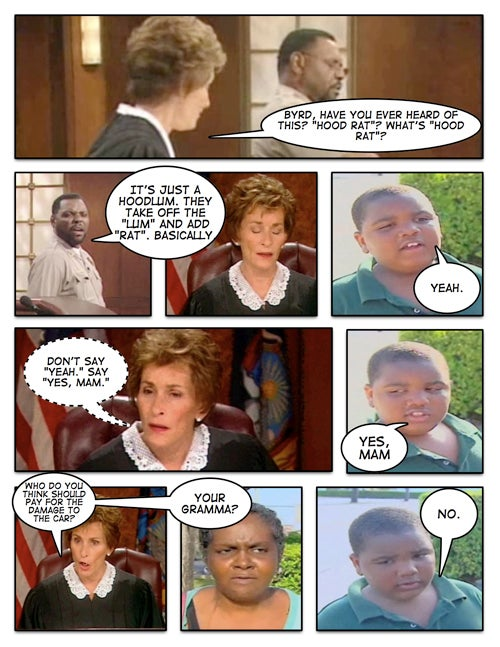 Conceptual Confrontations: Judge Judy Vs. Latarian Milton