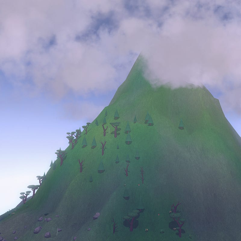 A Video Game About Being A Mountain