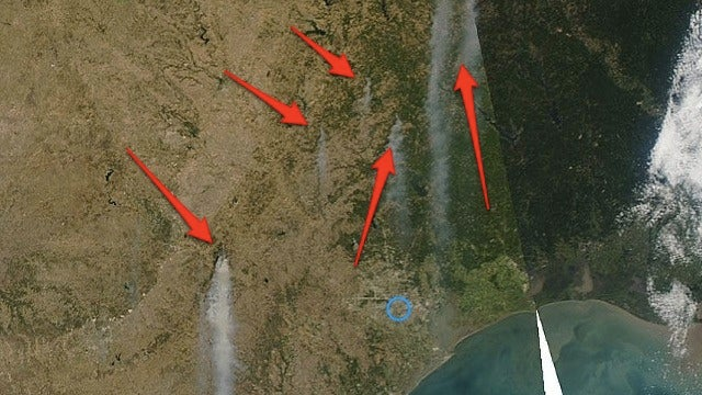 The Wildfires Burning Texas Right Now Can Be Seen from Space