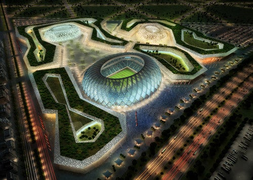 Sweeping stadium designs for the 2022 FIFA World Cup in Qatar
