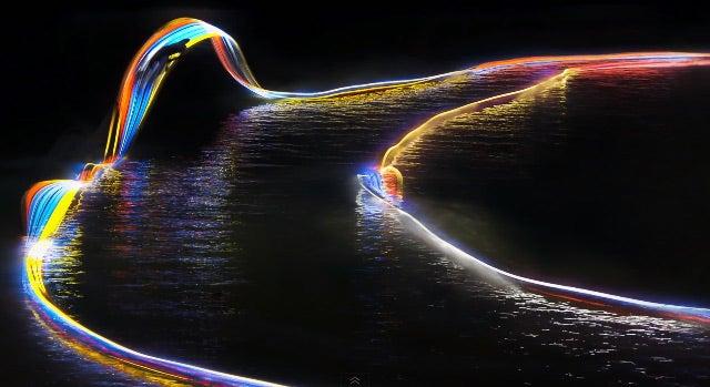 Esquí acuático con LEDs, lo último para lograr fascinantes fotografías