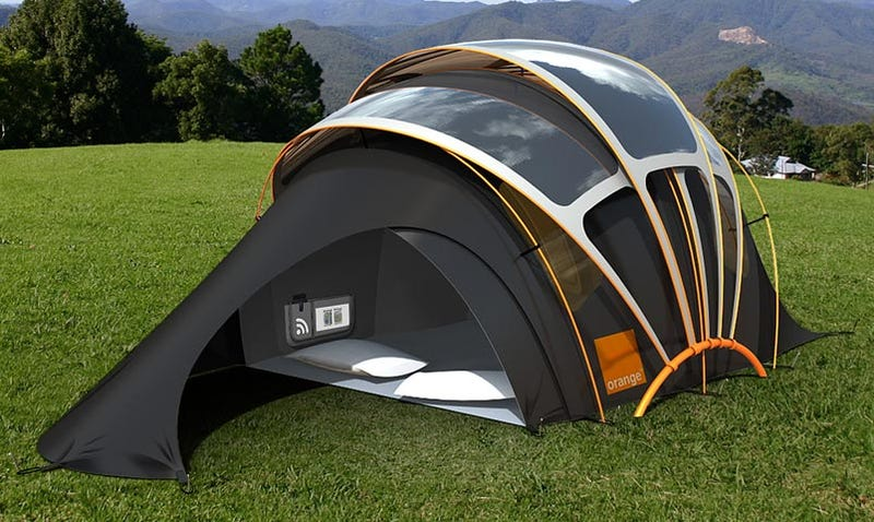 Tent Leeches Solar Power While Campers Leech Your Wi-Fi