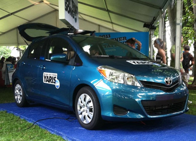 2012 Toyota Yaris unveiled at irrelevant music festival