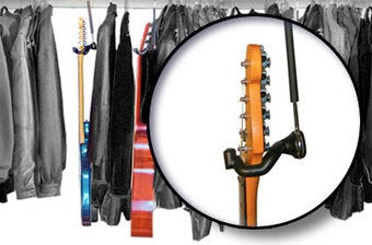 The Guitar Hanger Saves Space by Storing Guitars in Your Closet