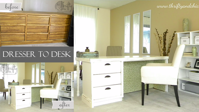 Turn an Old Dresser into an Attractive Desk