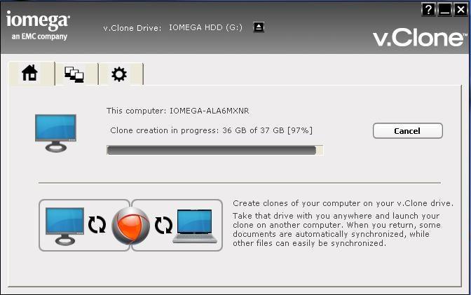 Iomega v.Clone App Portable-izes Your Entire PC
