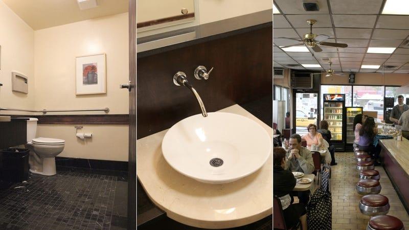 Take a Leak in a Replica Wall Street Power Toilet (in a Greek Diner)
