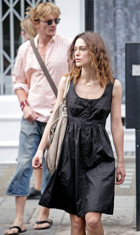 Keira Knightley's Persistently-Annoying Pout, Cute Dress.