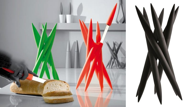 A Knife Holder That Looks More Dangerous Than the Blades