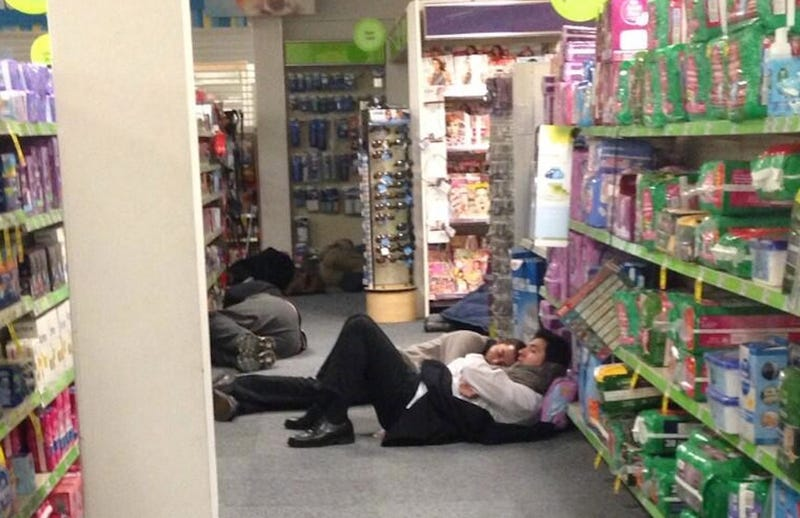 Atlantans Take Shelter in CVS as Ice Storm Creates Traffic Apocalypse