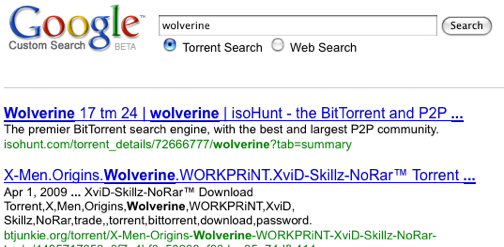 Custom BitTorrent Search Engine Demonstrates Google's Proximity to The Pirate Bay