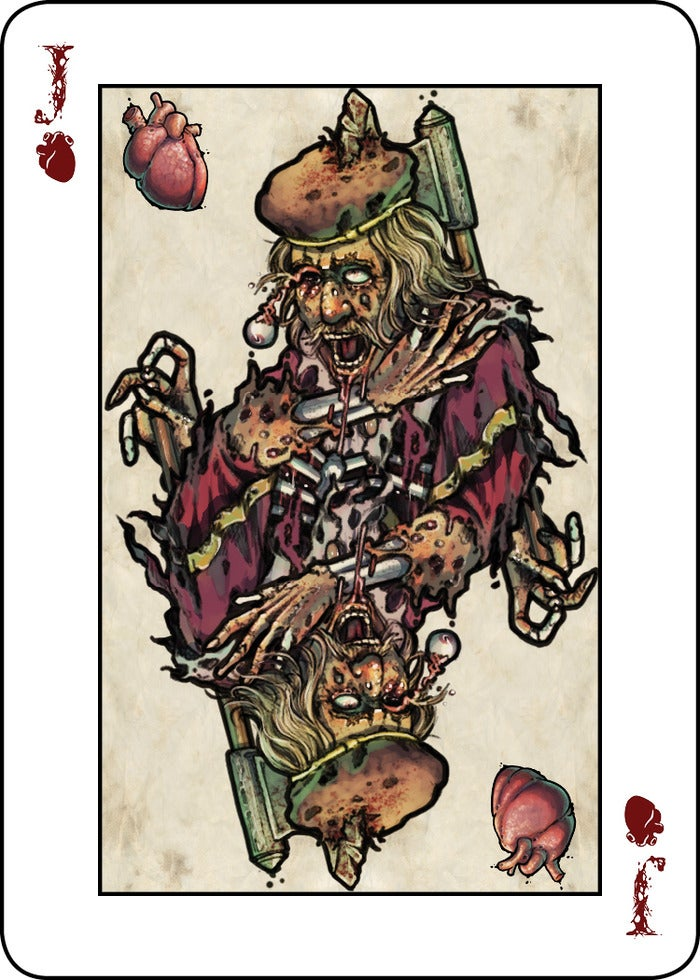 A gruesomely excellent deck of cards for Halloween