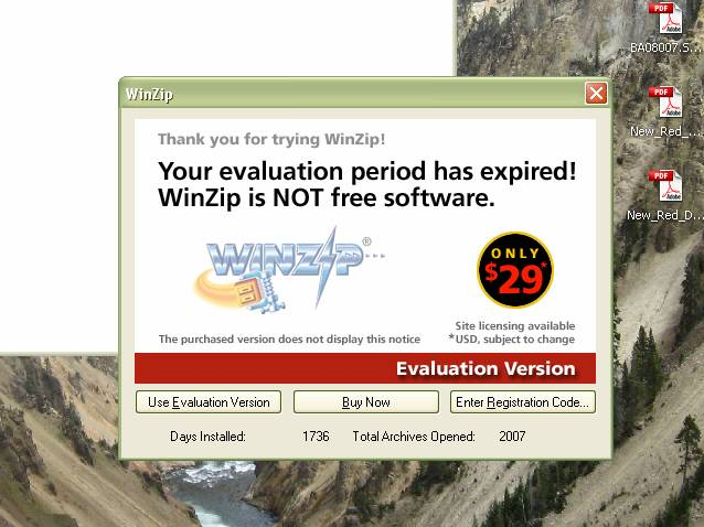 WinZip, You Have Underestimated the Cheapness of Man