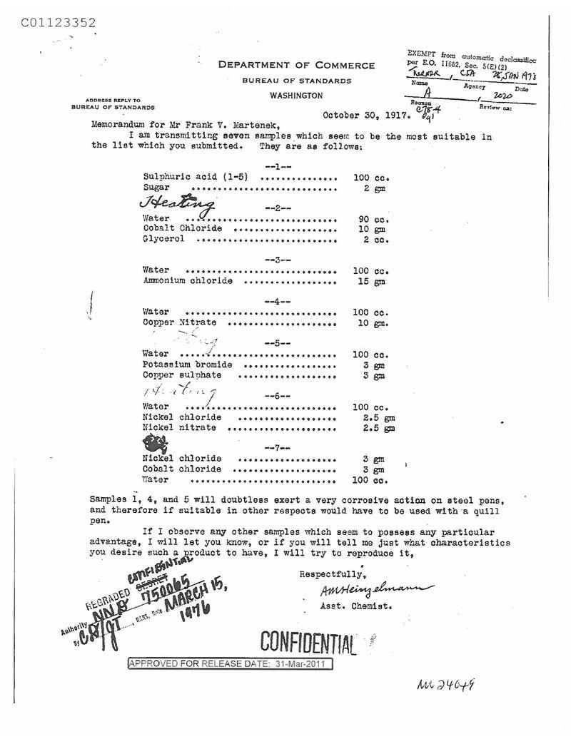 Declassified WWI Document 5 Gallery