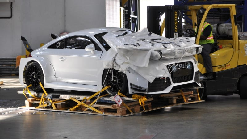This Is Audi's Insane Front-Wheel Drive TT-RS Racecar