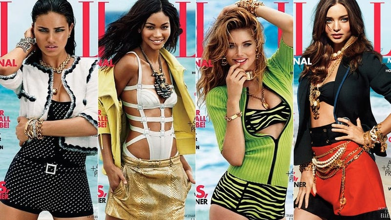 Elle Magazine's October Issue Features Models For The First Time In Eight Years