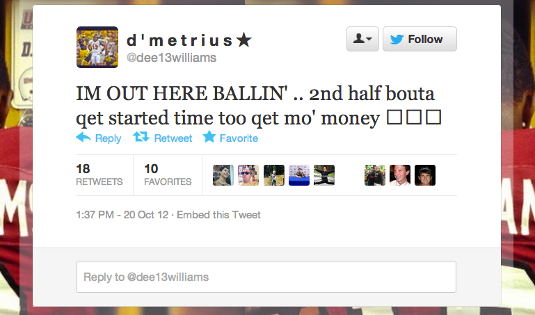 UMass DB D'Metrius Williams Spent Halftime Retweeting Compliments Beat Writers Paid Him During The First Half