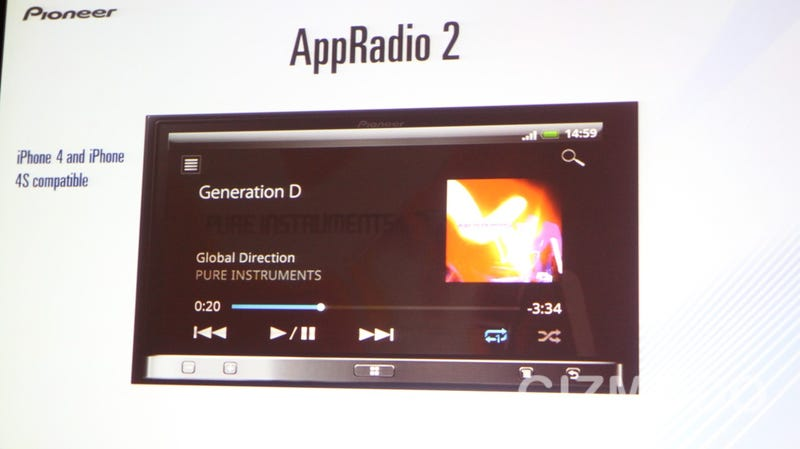 Pioneer Gets All Up in Your Dash With its Android-Ready App Radio 2