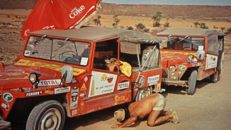 Leave it to the French to drive Citroën 2CV-based jeeps across the Sahara