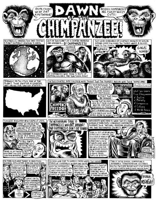 Dawn of the Chimpanzee! (Relax Folks, They're Just a Metaphor)