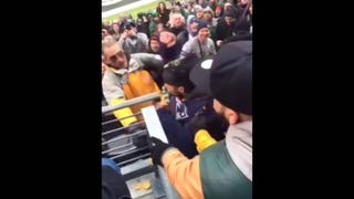 Pats Fan At Jets Game Gets Nachos Dumped All Over Him In Fight