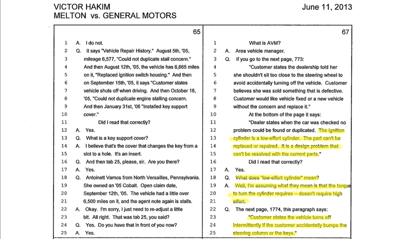 Court Docs: A Chevy Cobalt Can Shut Down Without Heavy Keys