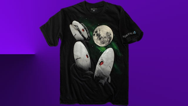 """Valve's """"Three Turret Moon"""" T-Shirt So Behind the Curve It's Ahead Again"""