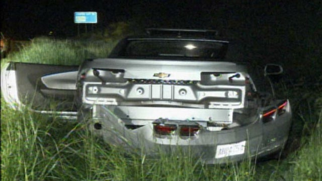 See What A Stolen Rental Camaro Looks Like After A 150 MPH Police Pursuit