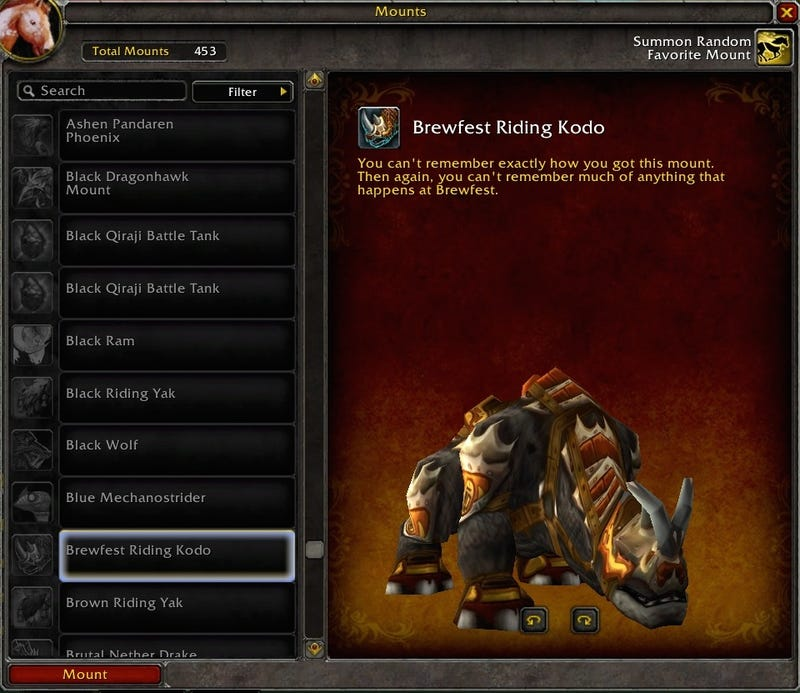 Blizzard Adds Silly Mount Descriptions In Warlords of Draenor Beta
