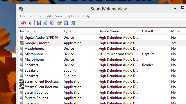SoundVolumeView Manages Audio Profiles, Mutes Devices and Applications