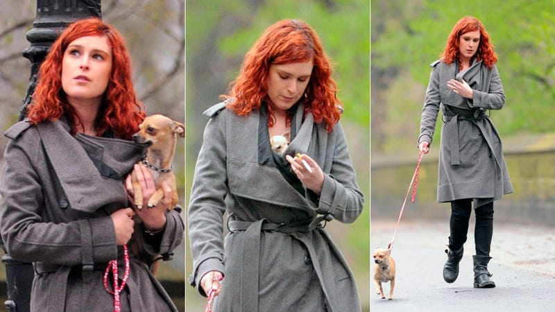 Hey, Rumer Willis, Did That Coat Come With A Stowaway?