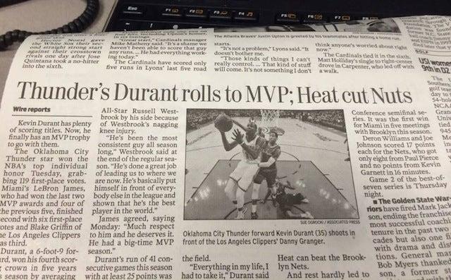 """Newspaper Headline: """"Heat Cut Nuts"""""""