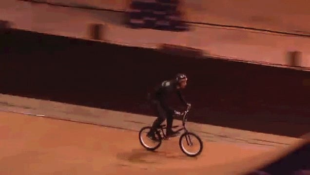 World's first front flip forward bike flip trick is a real spin cycle