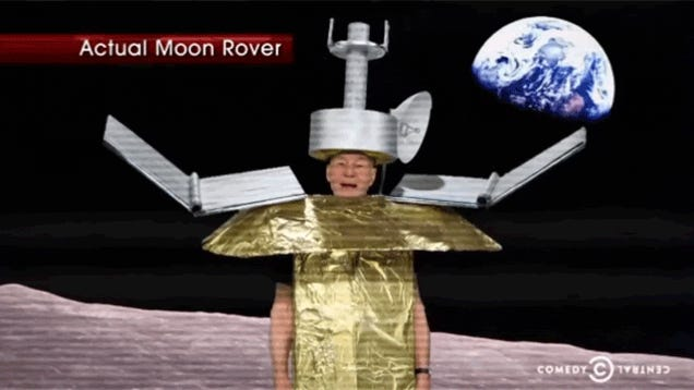 Patrick Stewart Looks Fantastic in a Moon Rover Costume