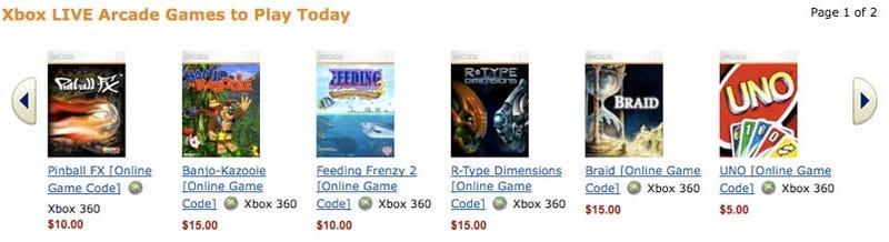 Amazon Begins Selling XBLA Titles