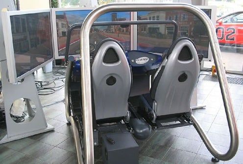Mirage 3D DaVinci Driving Simulator Rig Lacks Wheels, Has Passenger Seat