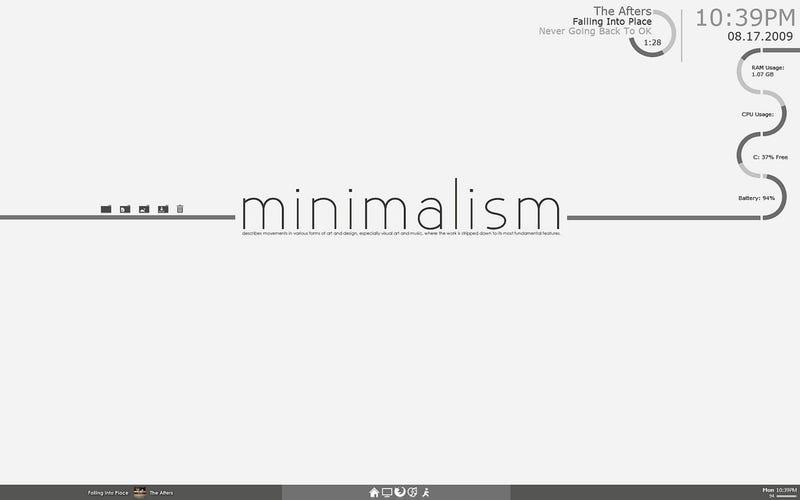 The Minimal Transparence Desktop