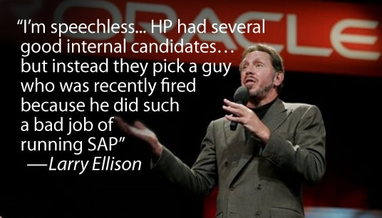 Oracle CEO Ridicules HP's Newly Appointed CEO