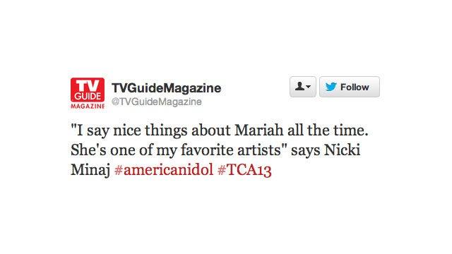Mariah Carey & Nicki Minaj Fight in Front of Live Audience of TV Critics During Press Tour