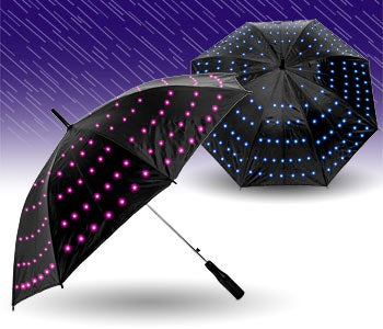 Twilight Umbrella Lights the Way Between the Raindrops