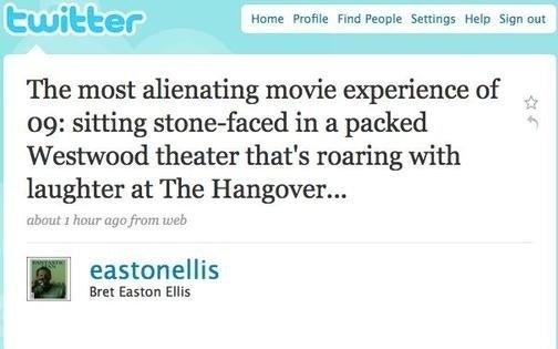 Bret Easton Ellis Did Not Particularly Enjoy The Hangover