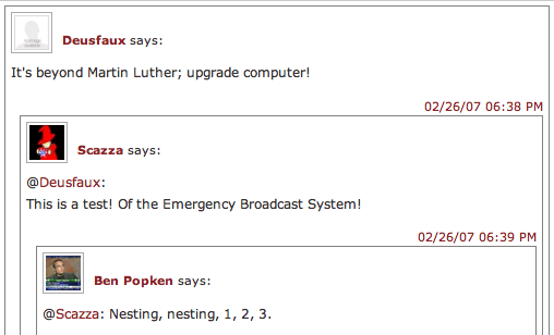 Lifehacker Nested Comments Greasemonkey script