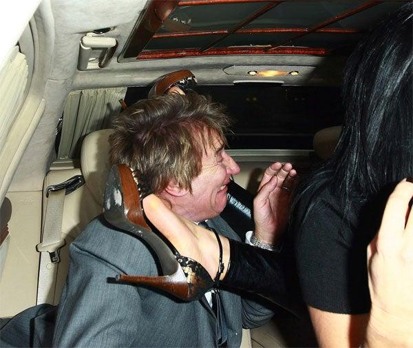 Rod Stewart Meets, Is Mauled By Random Stiletto