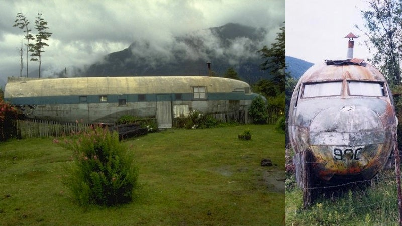 Awe-inspiring homes and buildings made out of old airplanes