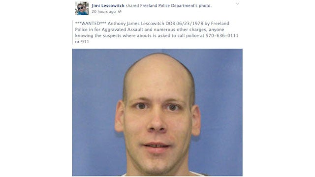Suspect Shares Police Facebook Status About Him, Is Quickly Arrested