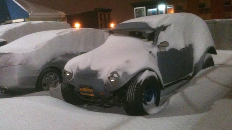 Why Yes You Can Drive A Baja Bug Covered In Snow