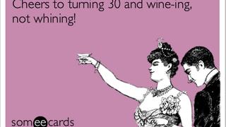 """On """"turning 30"""""""