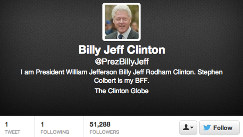 Watch Colbert Force Bill Clinton to Finally Join Twitter