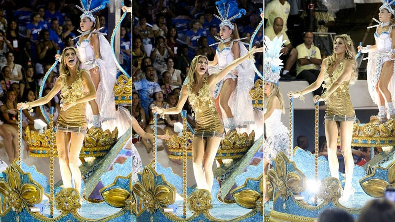 Gisele Floats Down The Street At Carnival In Brazil